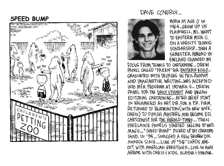 "2009 : Dave Coverly, ""Speed Bump Creator"", Named Cartoonist of the Year"