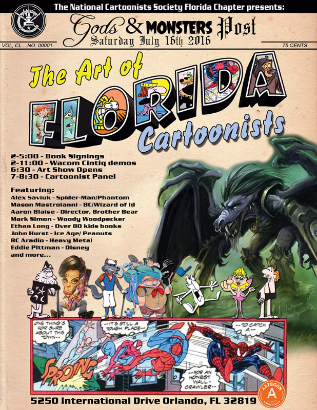 Art Of Cartoonists Poster RGB v05-sm