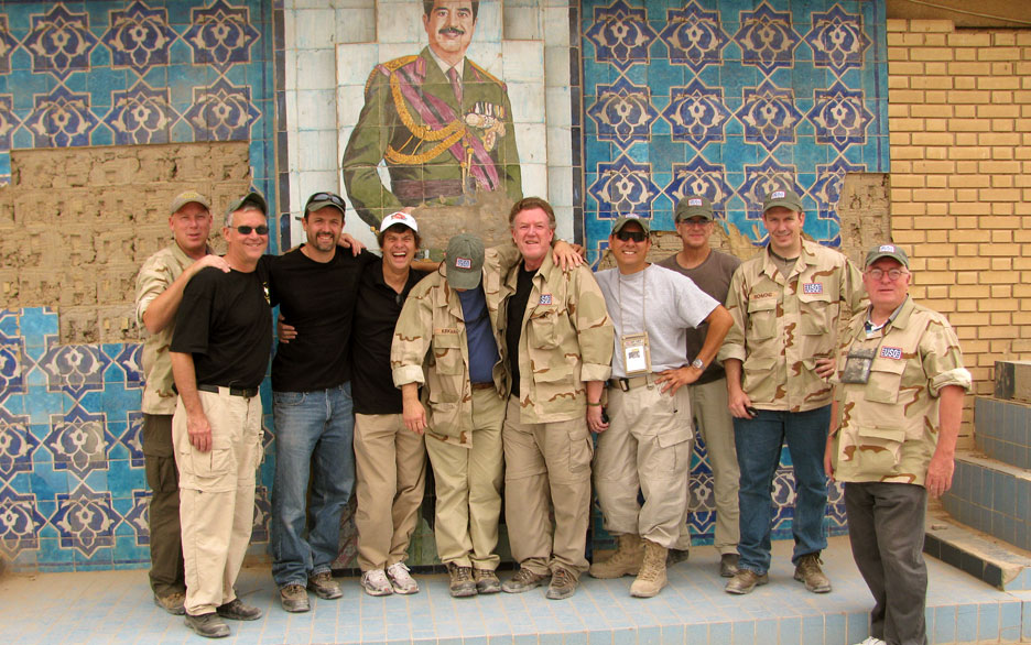 ... and on a trip to Baghdad in 2010.